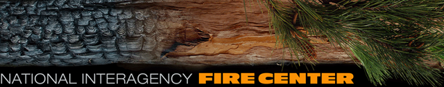 Page header for the National Interagency Fire Center web site. Graphic: NIFC