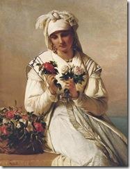 Jean-François Portaels (Belgian painter, 1818-1895) Flower Seller