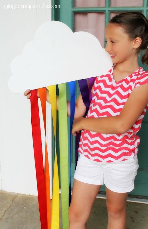 #rainbow #craft #DIY #ribbon