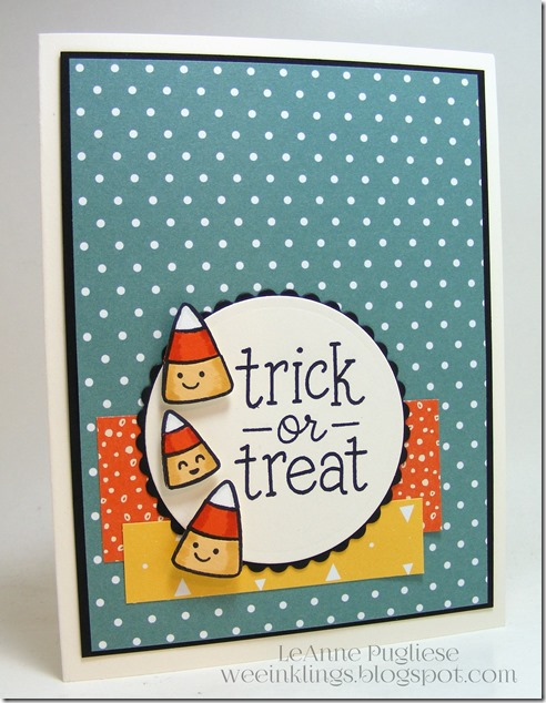 LeAnne Pugliese WeeInklings Paper Players 262 Candy Corn Trick or Treat Lawn Fawn