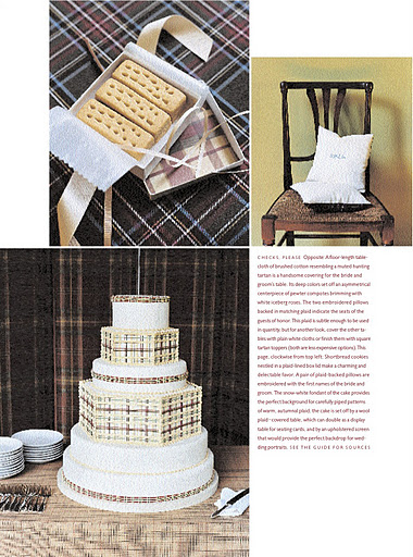 Plaid on the wedding cake