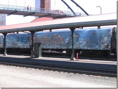 IMG_7653 Christmas Carol Train Car MRLX #801102 at Union Station in Portland, Oregon on July 1, 2009