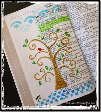 Bible Art Journaling Ps 1-3