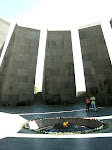 The Eternal Flame, Tsitsinakaberd Armenian Genocide Memorial, Yerevan, Armenia.