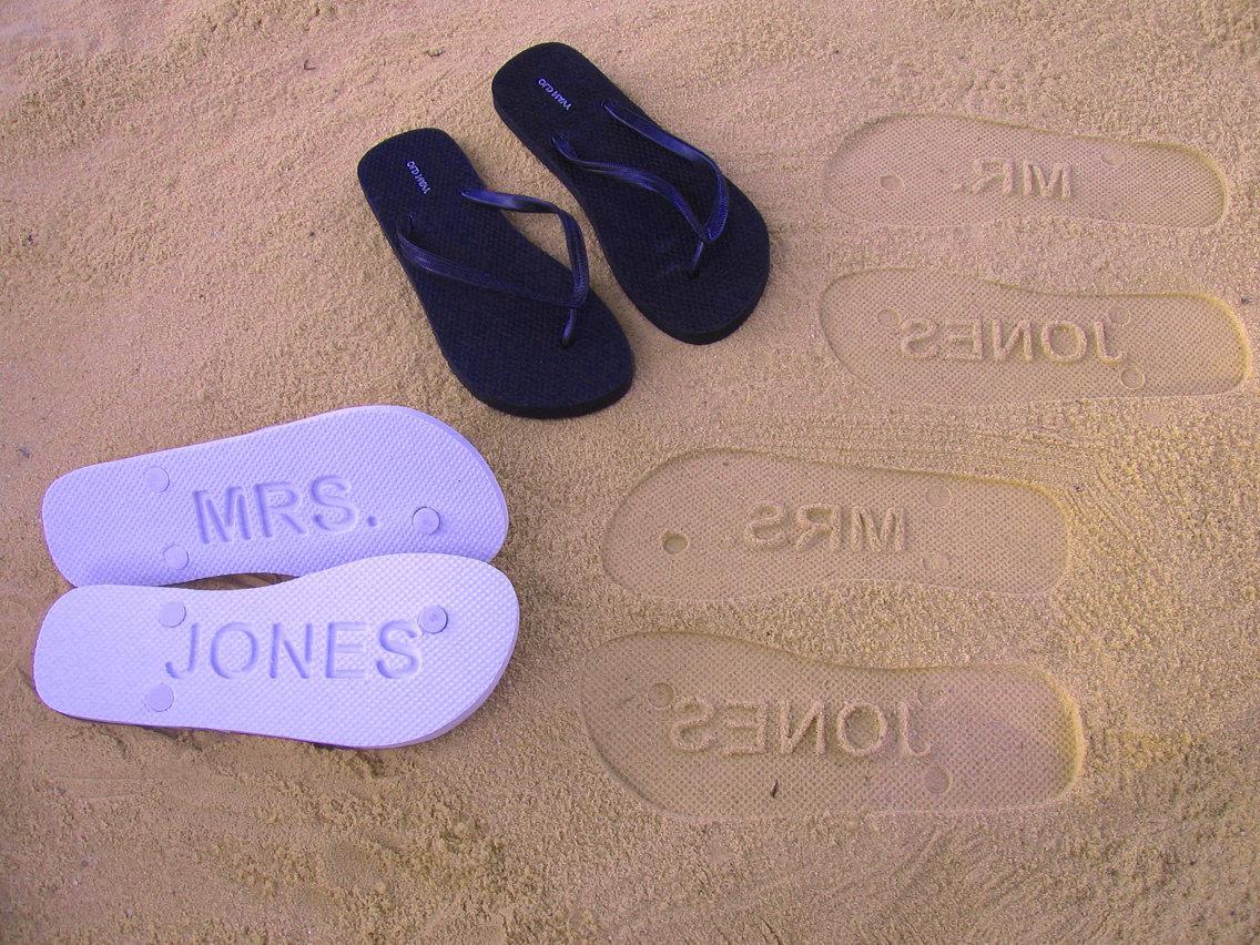 Custom Sand Imprint Wedding