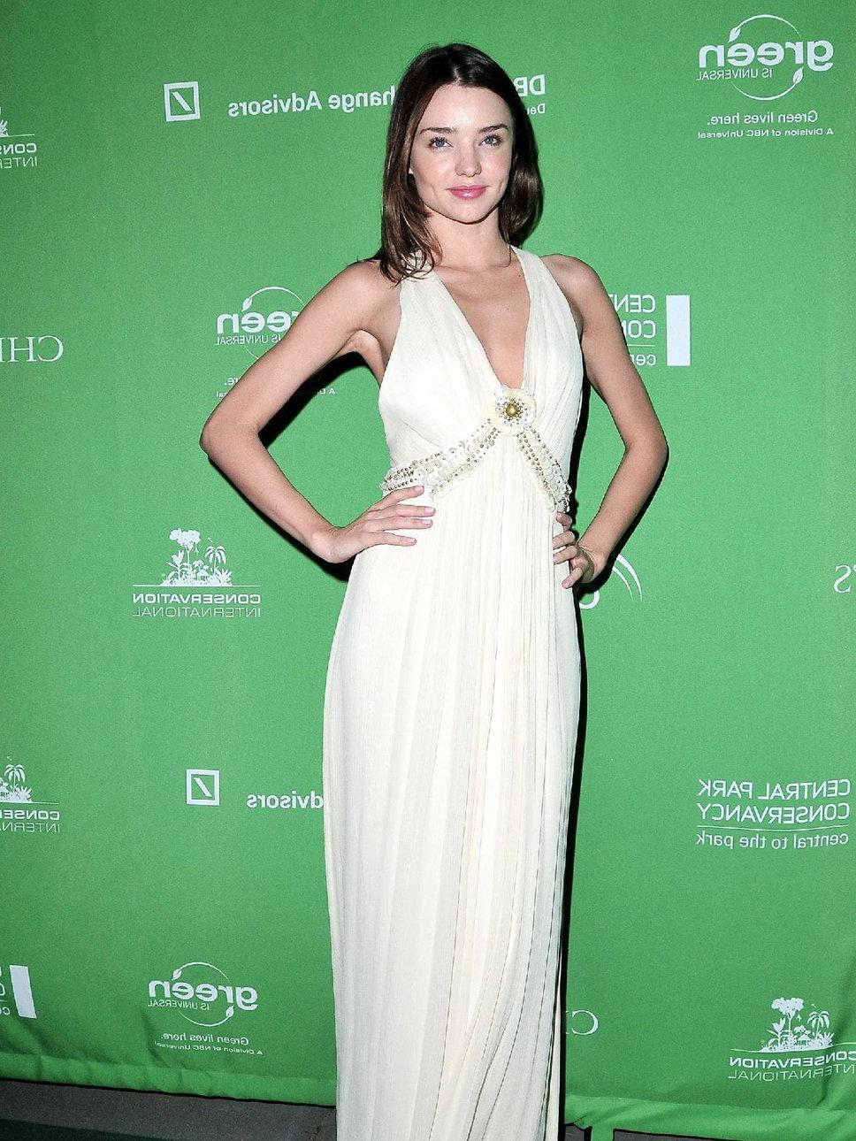 Miranda Kerr white halterneck