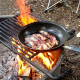 Rendering down bacon