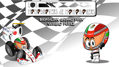 Серхио Перес и Sauber на Гран-при Бразилии 2011 Los MiniDrivers