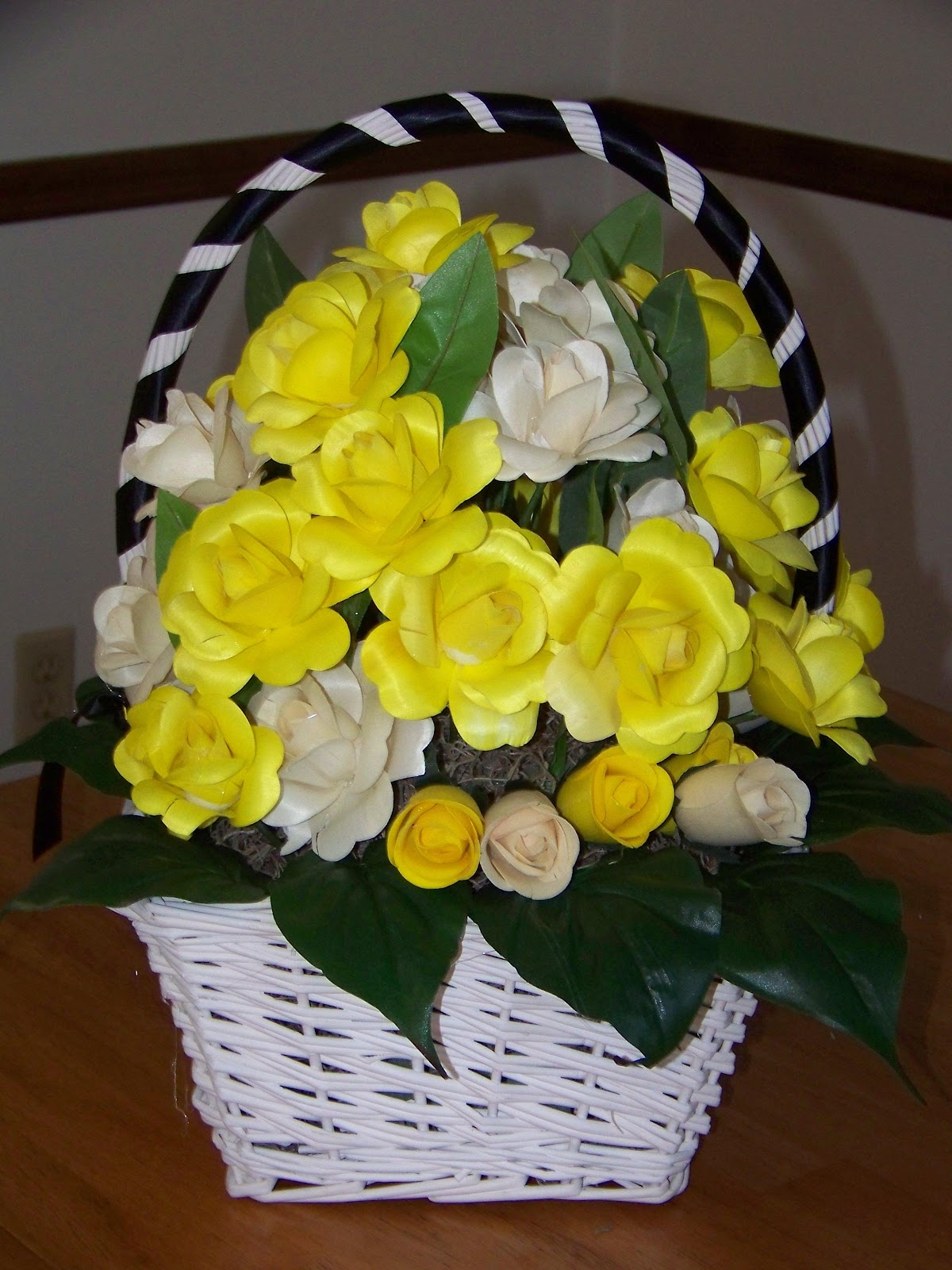 Fully open bridal bouquet,