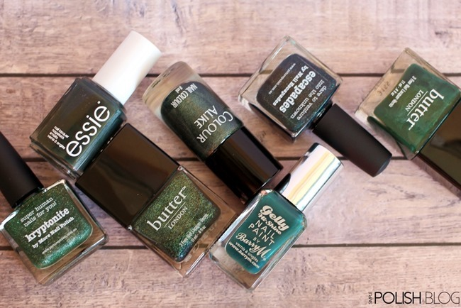 7-Shades-of-Green-Nailpolish-3