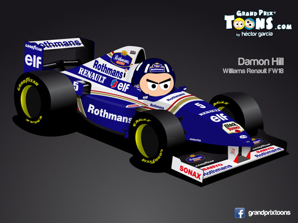 Деймон Хилл 1996 Williams FW18 Grand Prix Toons