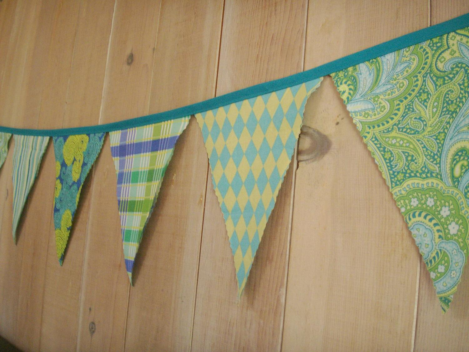 Bunting Flags- Lime Green to