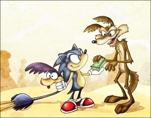 papaleguas sonic coyote Capturado