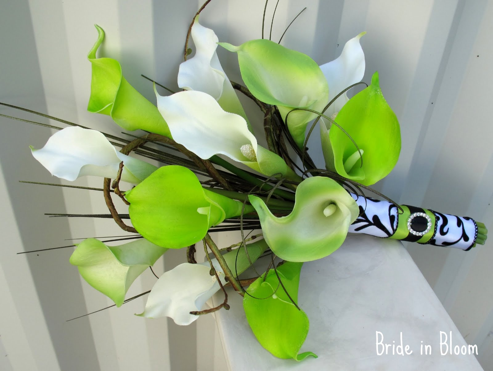Lime green & damask wedding