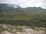 Driving up the Drakensburg Mountains into the country of Lesotho (pronounced Lesuthu). We got to ride in two 4WD vehicles with two new guides - it was the most fun I had on the trip.