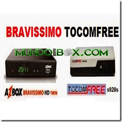 AZBOX BRAVISSIMO TWIN EN TOCOMFREE S928S