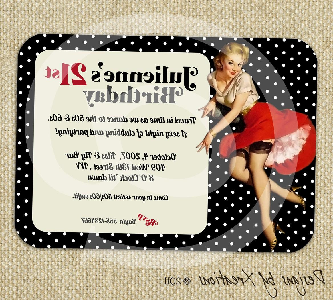 Retro Pinup Girl Invitation