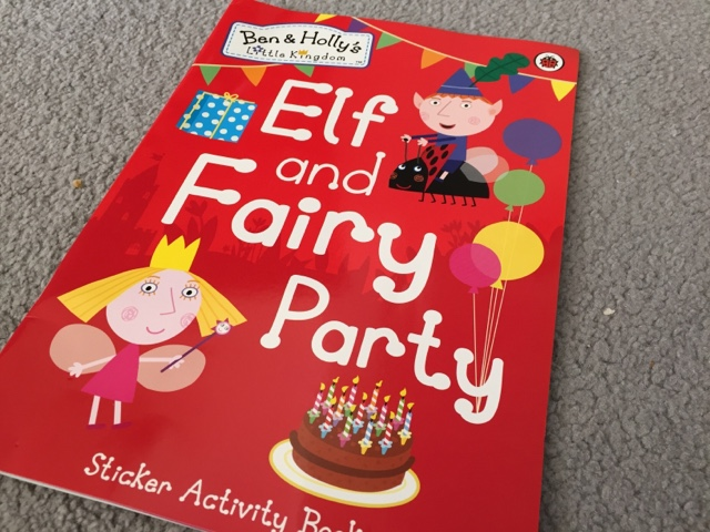 elf and fairy party sticker activity book
