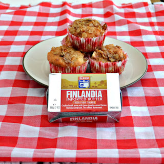 Apple Pecan Muffins with Finlandia Butter (Plus a $25 ShopRite Gift Card Giveaway)
