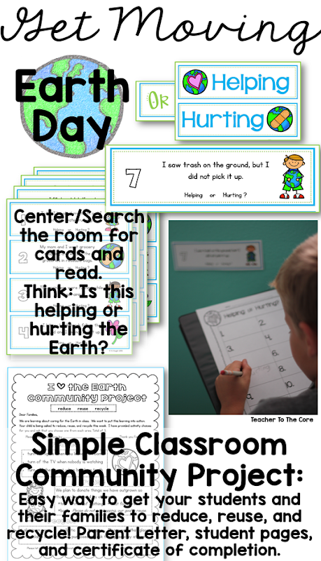 Earth Day is is a prime time to to teach 1st and 2nd graders how powerful they are. They can help to heal our planet. They can reduce, reuse, and recycle like a super hero. They can become planet protectors.  Art activities and literacy resources make it easy on the teacher- just print and teach!