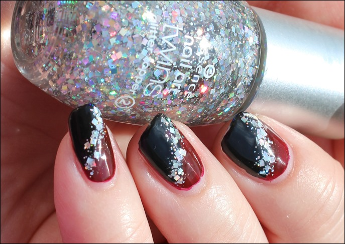 Bordeaux Glitter Nail Art 03