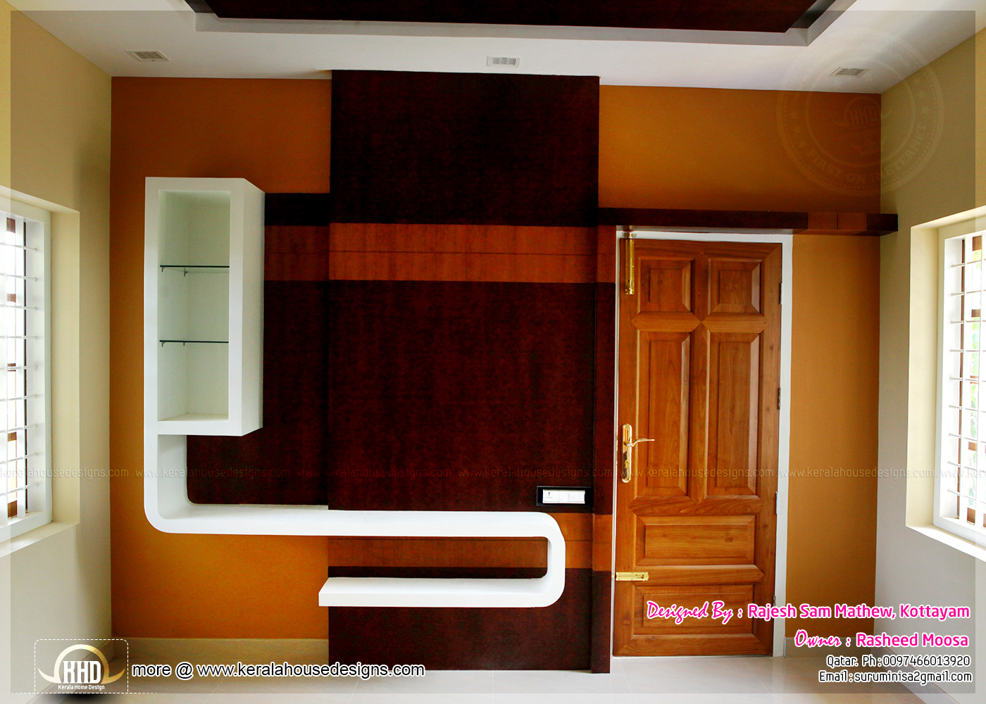 Kerala interior design with photos kerala home design for Small hall interior design photos india
