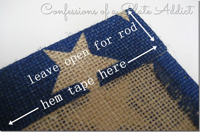 CONFESSIONS OF A PLATE ADDICT  No-Sew Pottery Barn Inspired Patriotic Banner tutorial