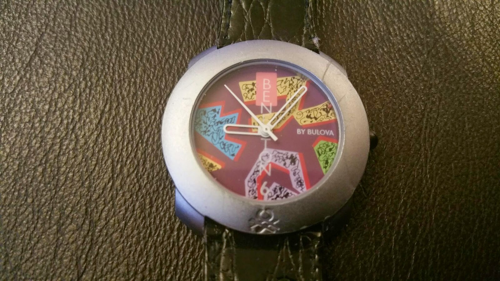 Which watch today benetton by bulova pastel coloured abstract pattern for Benetton watches