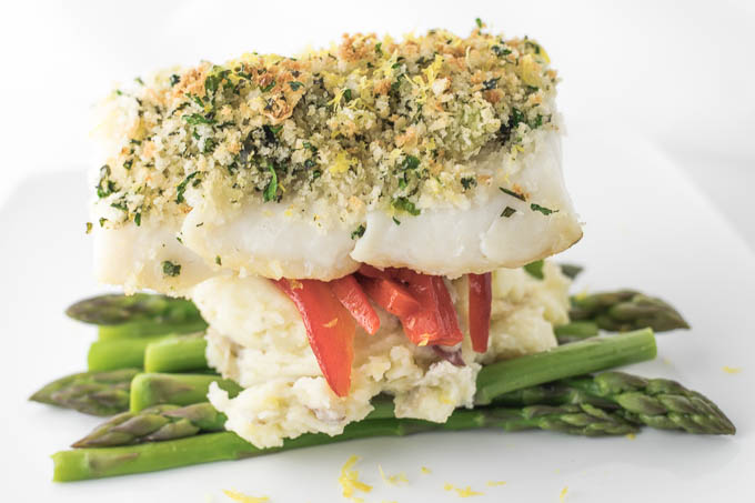 Herb Crusted Baked Cod Recipe | Yummly