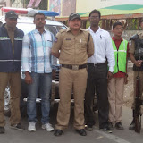 Traffic awareness programme in santhosh nagar branch