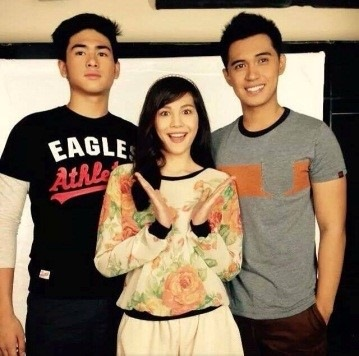 Manolo Pedrosa, Janella Salvador and Marlo Mortel