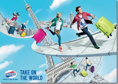 American Tourister Take on the World