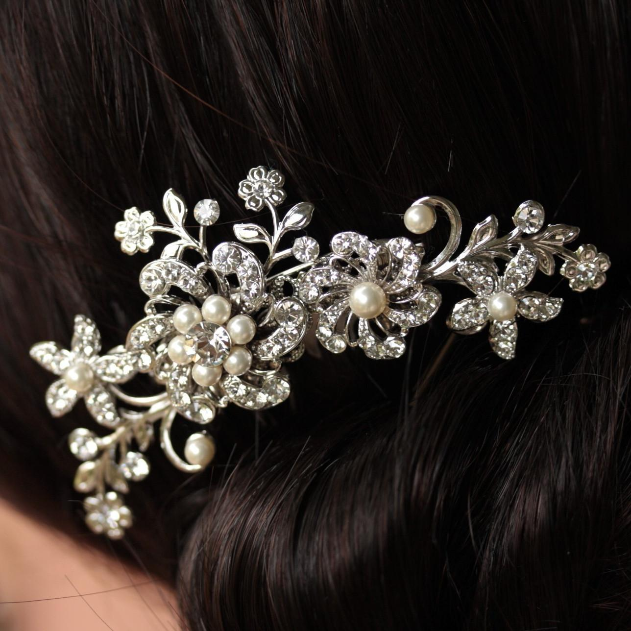 Wedding Headband Bridal Antique R title=