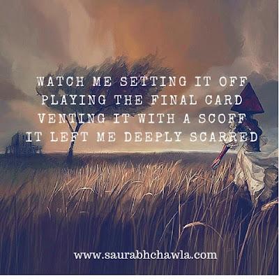 scarred poem