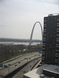 The view of the St Louis Arch outside of our hotel room window 03192011a