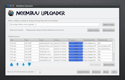 Neembu Uploader