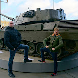 balling at a tank Dutch National Military Museum Soesterberg in Soest, Utrecht, Netherlands