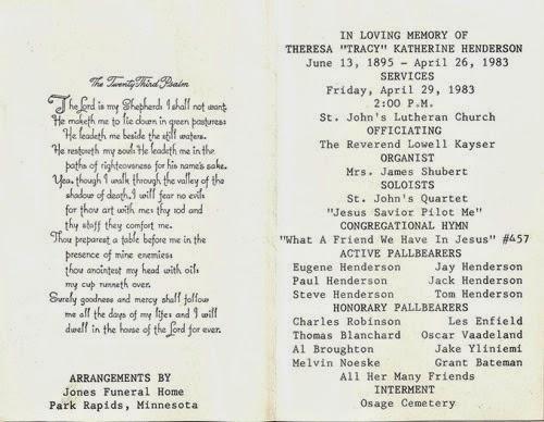 1983 Tracie Henderson obit