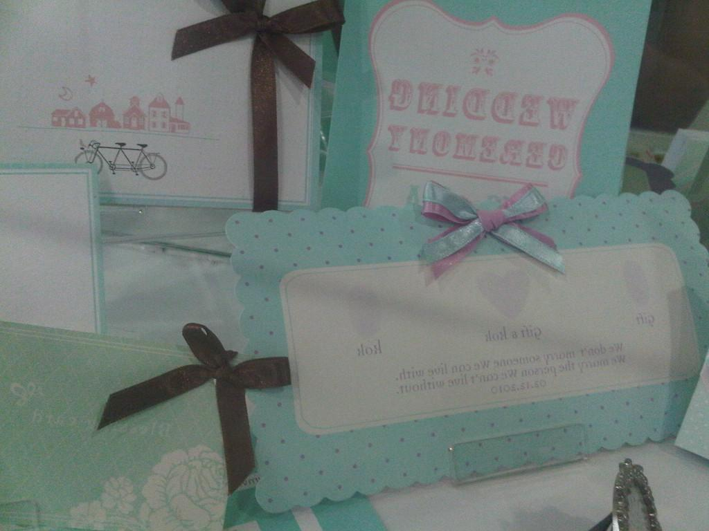 Wedding Cards Green Blue Style