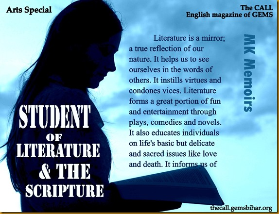 Student of Literature & the Scripture_The CALL