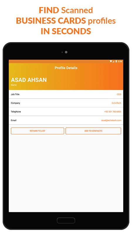 Business Card Scanner & Reader - Free Card Reader Screenshot 7