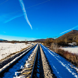 by Milan Tomicic - Transportation Railway Tracks