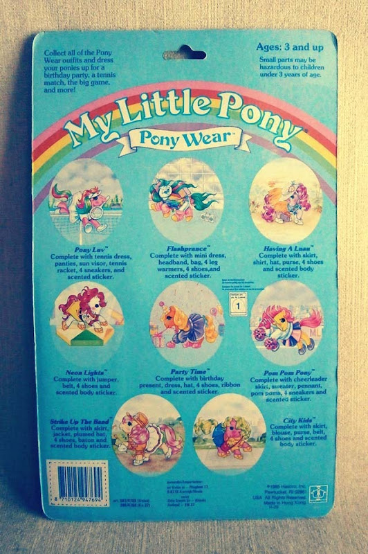 My Little Pony Pony Wear Back Side