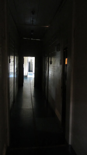 A spooky hallway. Guides told us a lot of paranomal activity has been observed here.