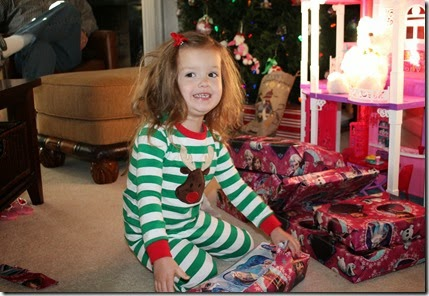 Zoey opening up Santa gifts3