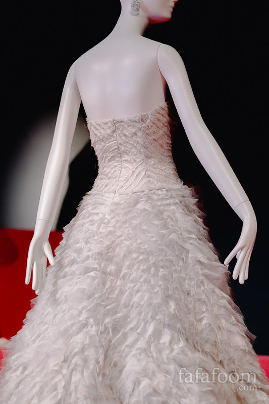 Details of Oscar de la Renta, Custom evening dress, Spring 2013.