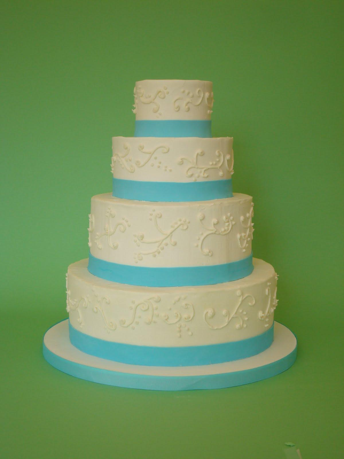 wedding cakes teal