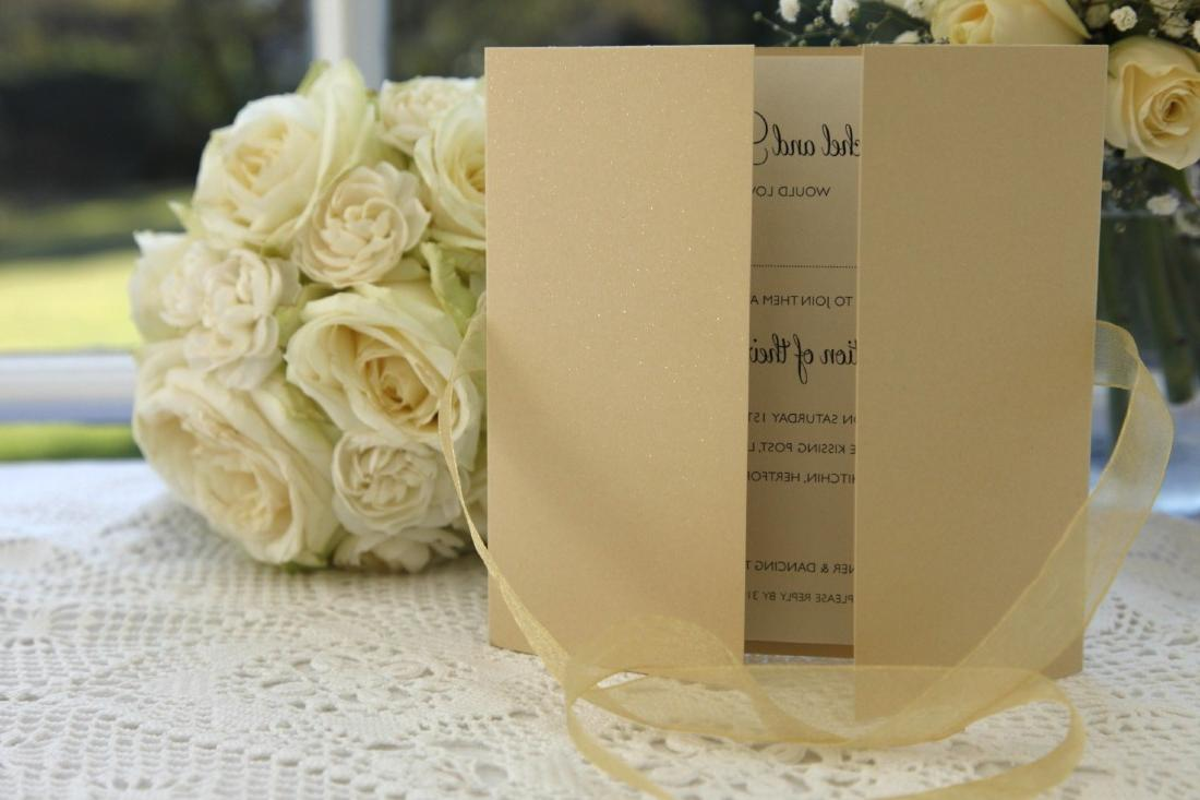 Gold Dust Wedding Invitation