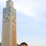 Natalie Outside the Hassan II Mosque - Casablanca, Morocco