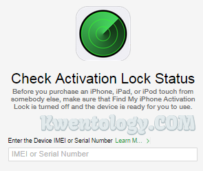 Image of Find My iPhone Activation Lock